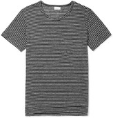 Schiesser - Helmut Striped Slub Linen-jersey T-shirt
