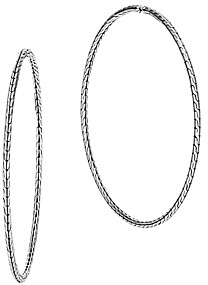 John Hardy Sterling Silver Classic Chain Extra-Large Hoop Earrings