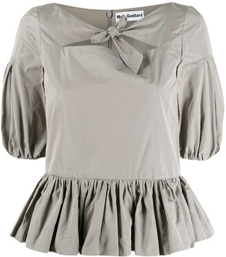 Molly Goddard Knot Detail Blouse