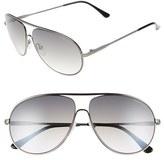 Tom Ford Women's 'Cliff' 61Mm Aviator Sunglasses - Matte Gunmetal/ Gradient Smoke