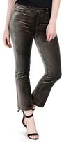 Paige Women's Colette High Waist Crop Flare Velvet Pants