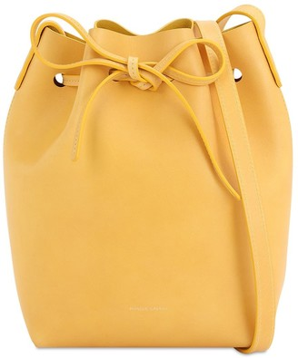 Mansur Gavriel Mini Vegetable Tanned Leather Bucket Bag