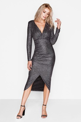 Girls On Film Outlet Pewter Bodycon