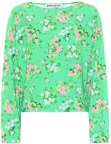 MONICA Bernadette floral top