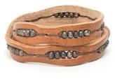 Will Leather Goods Men's 'Black' Wrap Bracelet
