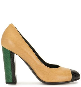 Dries Van Noten Pre-Owned Colour-Block Pumps