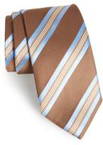David Donahue Stripe Silk Tie