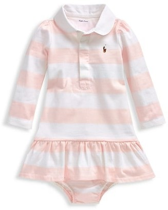 Ralph Lauren Baby Girl's Striped Polo Rugby Dress & Bloomer Set