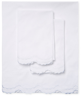 Melange Home Double Scalloped Embroidered Sheet Set