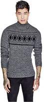 GUESS Men's Bori Mock-Neck Sweater