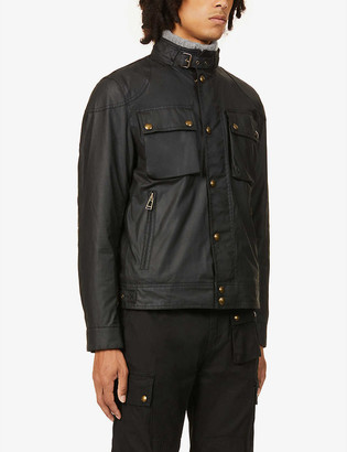 Belstaff Racemaster funnel-neck waxed cotton jacket