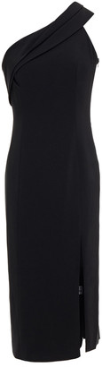 Jay Godfrey One-shoulder Draped Stretch-crepe Midi Dress