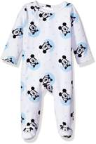 Disney Baby Boys' Mickey Mouse Velour Footie Sleeper