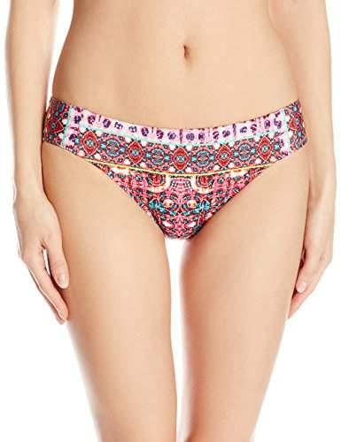 Nanette Lepore Women's Skimpy Hipster Bikini Swimsuit Bottom, Multi/Sunset Shibori