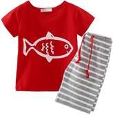Little Spring LittleSpring Little Boys' Clothing Short Sets Striped Size 4T US