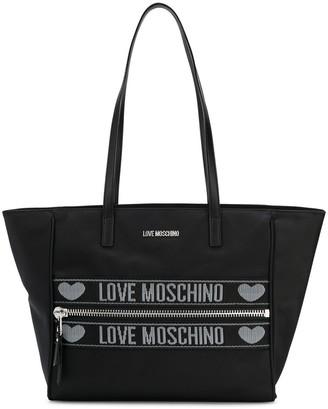 Love Moschino Logo Motif Tote Bag