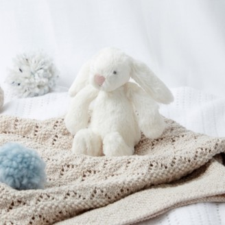 The White Company Jellycat Bashful Cream Bunny Baby Toy, Cream, One Size