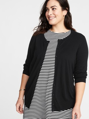Old Navy Crew-Neck Button-Front Plus-Size Cardigan