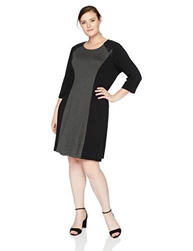Women\'s Plus Size Colorblock Dress