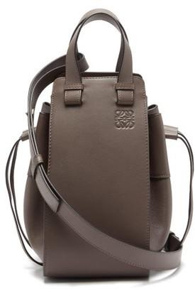 Loewe Hammock Small Leather Bag - Womens - Dark Grey