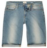 River Island Light Blue Wash Skinny Fit Denim Shorts
