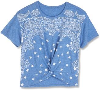 Lucky Brand Bandana Print Knot Front T-Shirt