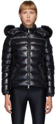 Moncler Black Down and Fur Bady Jacket