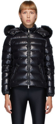 Moncler Black Down Badyfur Jacket