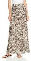 alessandra ambrosio  Who made  Alessandra Ambrosios brown print maxi skirt and flat sandals?