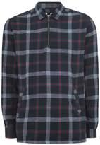 Topman Navy Check Shirt