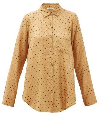 Mes Demoiselles Boy Relaxed Polka-dot Silk Shirt - Yellow Print