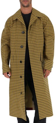 Burberry Belted Checked Coat