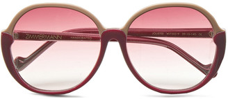 Zimmermann Joliette Round-frame Two-tone Acetate Sunglasses
