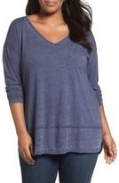 Sejour Plus Size Women's Burnout Tunic