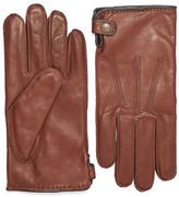 Black Brown 1826 Leather Whipstitched Gloves