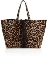 Victoria Beckham Simple Shopper Leopard-Print Calf Hair Tote