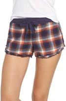 Make + Model Women's Ruffle Flannel Lounge Shorts