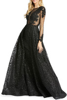 Mac Duggal 6-Week Shipping Lead Time Long-Sleeve Illusion Ball Gown