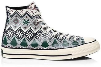 Converse Chuck 70 Fair Isle Print High-Top Sneakers