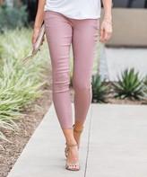 Amaryllis Women's Jeggings PINK - Pink Crop Faux-Button Pocket Jeggings - Plus