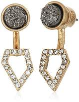 "Kenneth Cole New York Ice Caves Delicates"" Delicate Metallic Druzy & Geometric Earrings Jacket"
