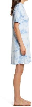 C&C California Bea Tie Dye Mock Neck T-Shirt Dress