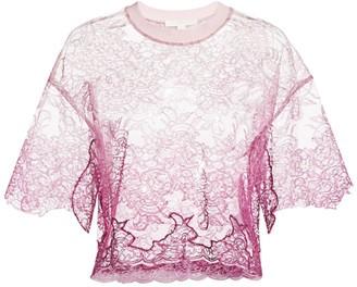Jonathan Simkhai Ombre Lace Short T-Shirt
