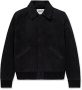 Thumbnail for your product : Valstar Leather-Trimmed Suede Varsity Jacket