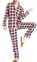 J.Crew Women's Whiteout Plaid Flannel Pajamas