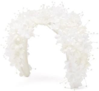 Stephen Jones Shine Floral-applique Headband - Ivory