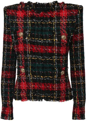 Balmain Tartan Tweed Jacket