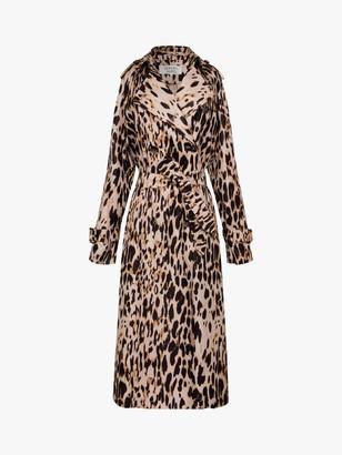 Gerard Darel Animal Trench Coat, Leopard Print