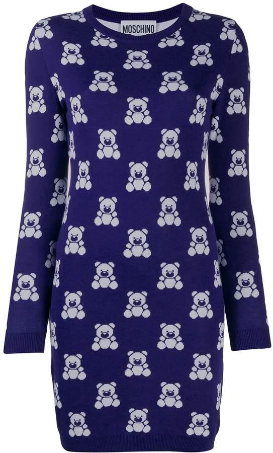 Moschino Teddy Bear short sweater dress