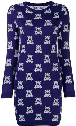 Moschino Teddy Bear short sweater dress